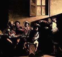 Caravaggio The Calling of Saint Matthew, high resolution