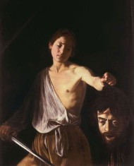 David with the Head of Goliath by Caravaggio, high resolution