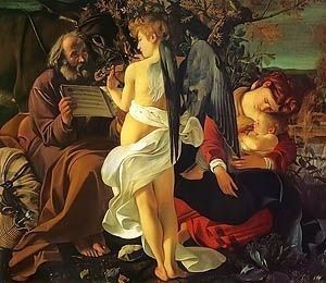 Caravaggio Rest on the Flight Into Egypt 1596 Royalty Free Images