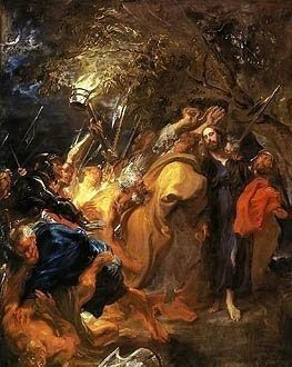 Anthony Van Dyck painting the Betrayal of Christ