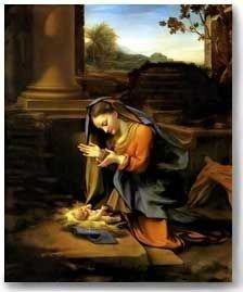 Correggio, Adoration of the Child Nativity Christmas Cards