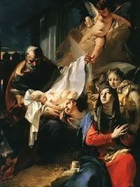 Adoration of the Child by Giovanni Tiepolo