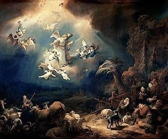 Govert Flinck painting Annunciation to the Herders by the Angel