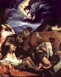 Annunciation to the Shepherds painting by Jacopo Bassano