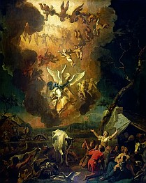 Annunciation to the Shepherds Abraham Hondius, high resolution image