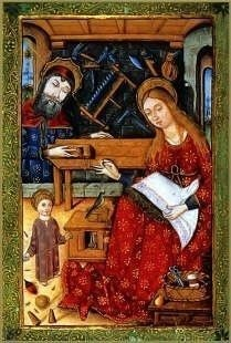 Holy Family in Josephs Carpentry Shop, Book of Hours