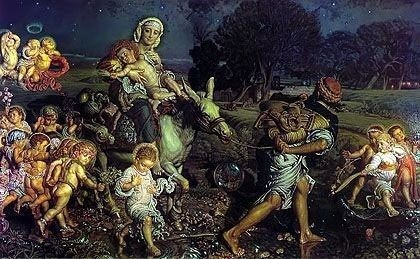 Triumph of the Innocents William Holman Hunt Royalty Free Images