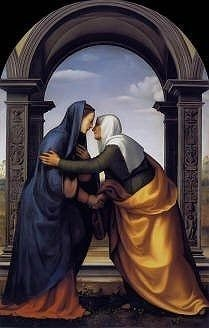 Visitation by Mariotto Albertinelli high resolution image