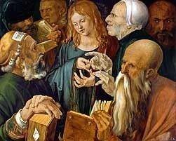 Christ Among the Doctors, Albrecht Durer high resolution images