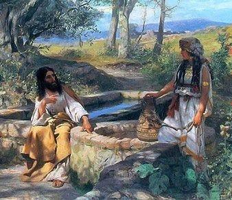 Christ and the Samaritan Woman at the Well, Henryk Siemiradzki high resolution images