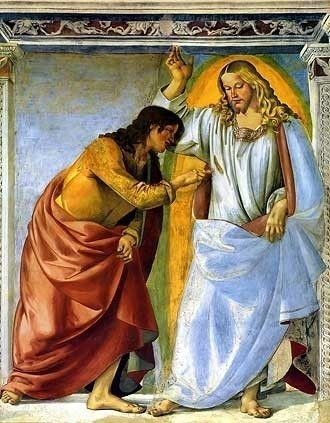 Christ and the Doubting Thomas by Melozzo da Forli