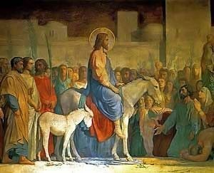 Christ Entry into Jerusalem painting by Hippolyte in high resolution