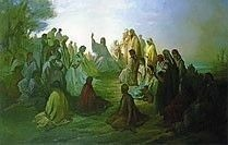 Jesus Preaching the Sermon on the Mount by Gustave Dore
