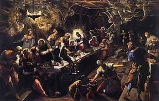 Last Supper painting by Tintoretto