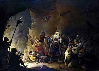 Rich Man being led to Hell by David Teniers the Younger