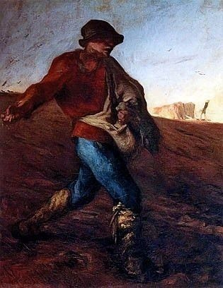 The Sower, Jean Francois Millet royalty free images