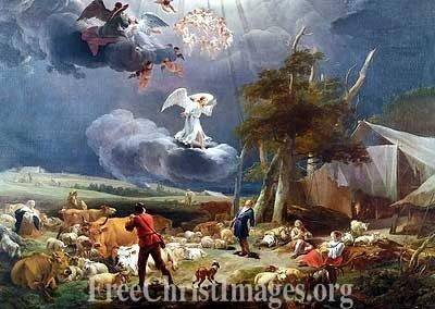 Shepherds and the Angel Free High Resolution Images