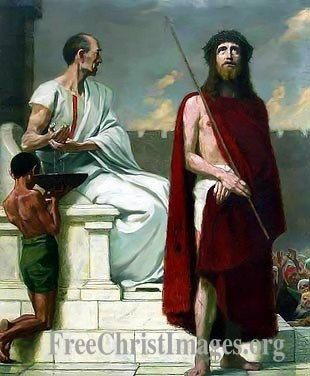 Pilate Washing His Hands, Jesus before Pilate