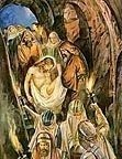The Burial of Jesus Christ Royalty Free Images