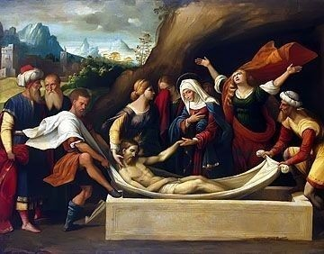 The Entombment painting by Garafalo