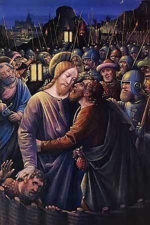 The Kiss of Judas by Jean Bourdichon