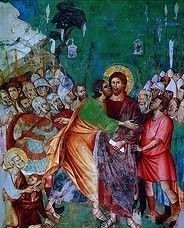 Judas Betraying Jesus, Assisi Church Fresco