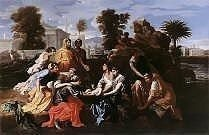 Finding of Moses by Nicolas Poussin, high resolution