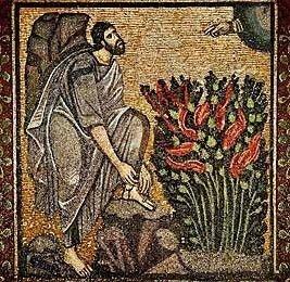Moses And The Burning Bush, Byzantine Mosaic Catherine Monastery