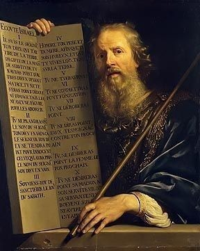 Moses with the Ten Commandments by Philippe de Champaigne