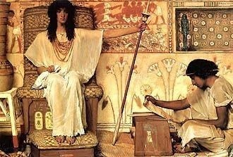 The Overseer Joseph by Sir Lawrence Alma Tadema Royalty Free Images