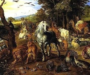 Entry of the Animals into Noahs Ark by Jan Brueghel