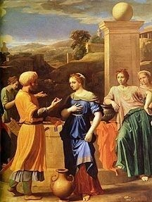 Eliezer and Rebecca at the Well by Nicolas Poussin, high resolution
