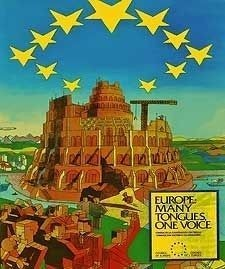 European Union poster Tower of Babel