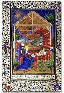 Book of Hours of the Marshal of Boucicaut, Nativity high resolution