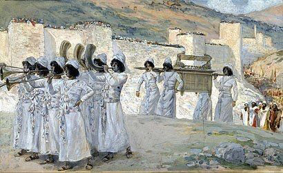 Seven Trumpets of Jericho by James Tissot, high resolution