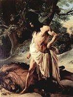 Samson and the Lion by Francesco Hayez