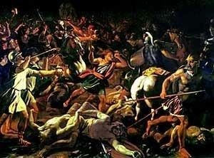 Victory of Gideon over the Midianites by Nicolas Poussin