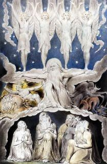 Job 38 When Morning Stars Sang painting by William Blake