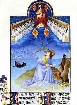 Saint John on Patmos, Tres Riches Heures du Duc de Berry