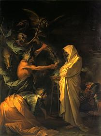 The Apparition of Samual to Saul by Salvator Rosa