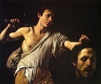 Caravaggio painting David Showing Head of Goliaths