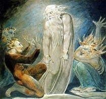 The Ghost of Samuel Appearing to Saul by William Blake in high resolution