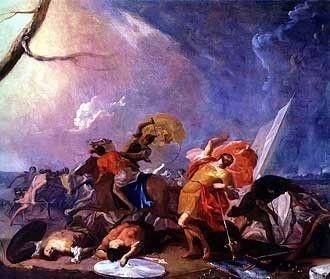 The Death of Saul by Johann Heinrich Schonfeld