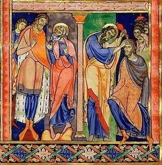 Samuel Anoints Saul, Winchester Bible Illuminated