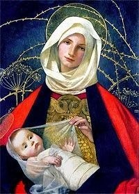 Madonna and Child by Marianne Stokes high resolution