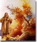 Story of Moses and the Burning Bush in Free Bible Art and Lessons